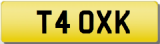 XK 4 OXK 40 XK8 XKR FORTY INITIALS Private CHERISHED Registration Number Plate